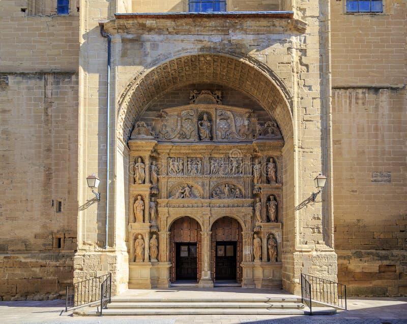 Parochiekerk van St. Thomas de Apostel in Haro stock foto