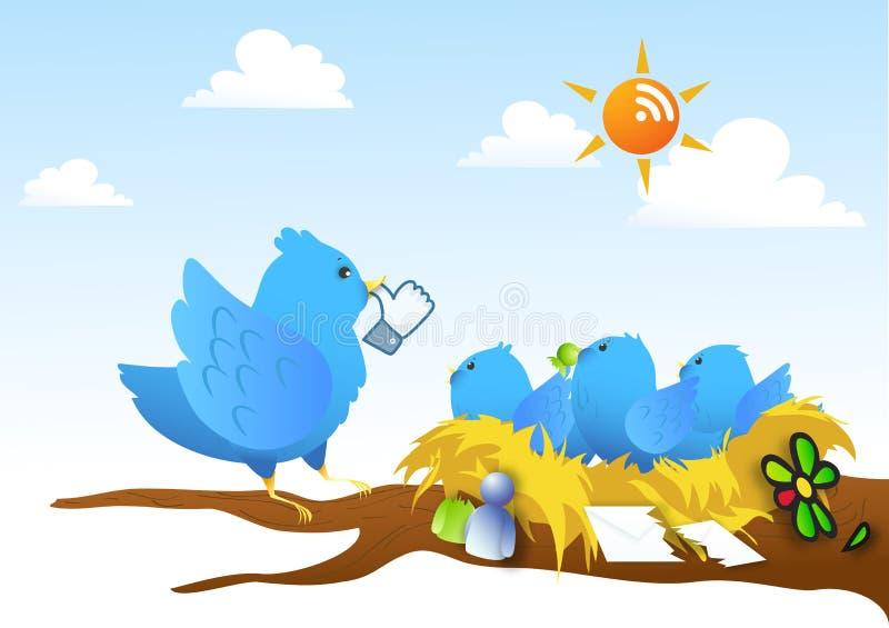 Parodie - Sociale netwerkrivalen vector illustratie