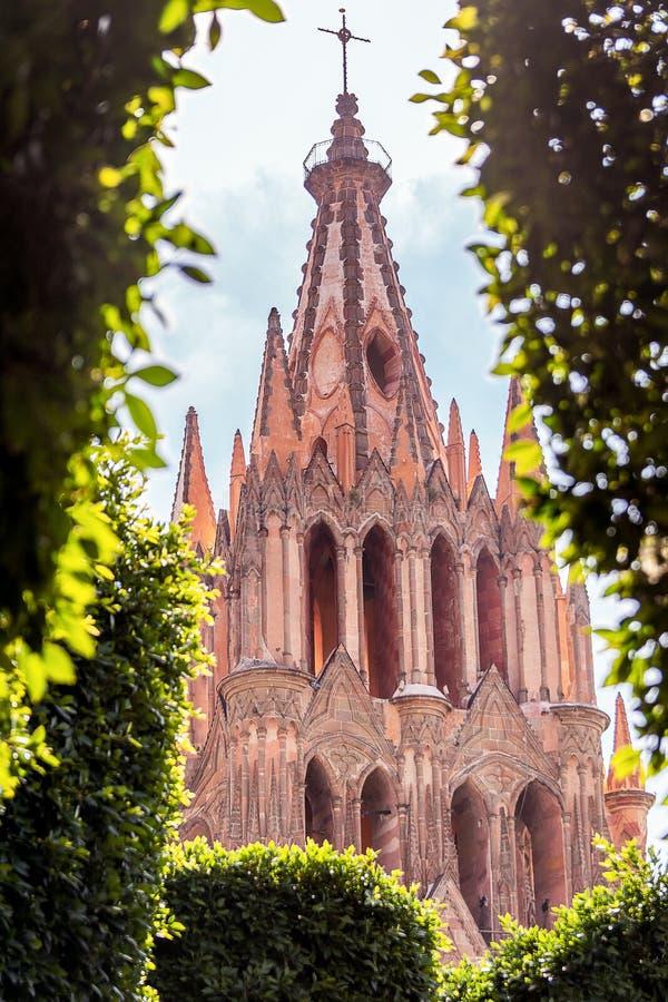 Paroisse de San Miguel Allende de la plaza photographie stock libre de droits