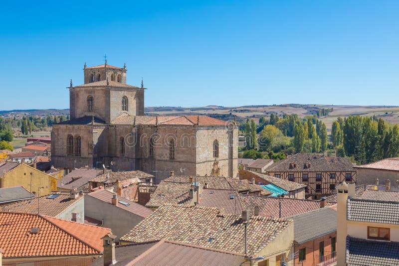 Paroisse de Santa Ana dans Penaranda De Duero photographie stock libre de droits