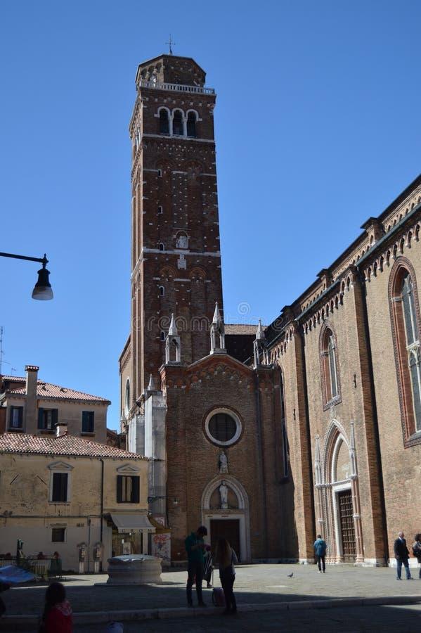 Paroisse Santa Maria Maria Gloriosa Del Frari In Venice Voyage, vacances, architecture 27 mars 2015 Venise, région de Vénétie, photo libre de droits