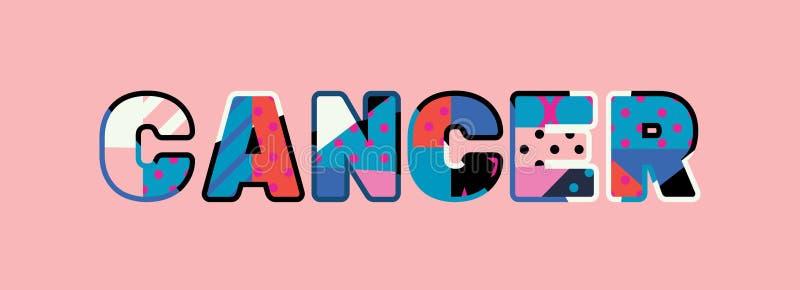 Parola Art Illustration di concetto del Cancro illustrazione vettoriale