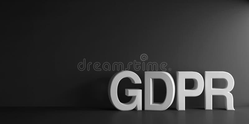 Parola bianca GDPR illustrazione vettoriale