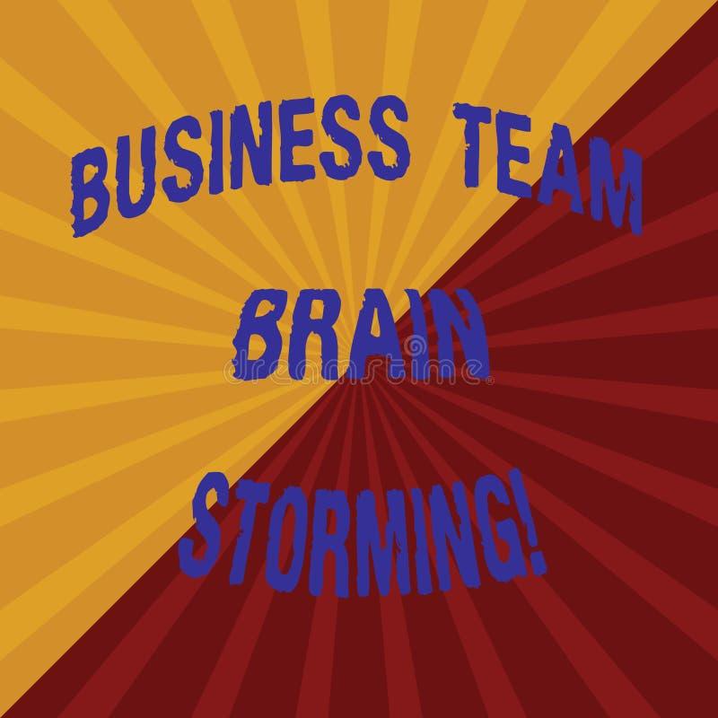 Parola che scrive affare Team Brain Storming del testo Concetto di affari per la riunione di lavoro due Tone Sunburst del gruppo  immagine stock libera da diritti