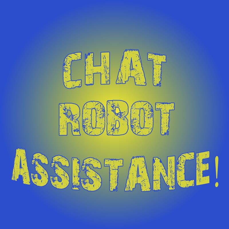 Parola che scrive assistenza del robot di chiacchierata del testo Il concetto di affari per le domande di servizi di assistenza a immagini stock libere da diritti
