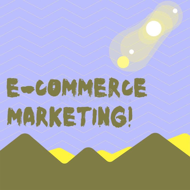 Parola che scrive introduzione sul mercato di commercio elettronico del testo Il concetto di affari per l'affare che vende prodot illustrazione vettoriale