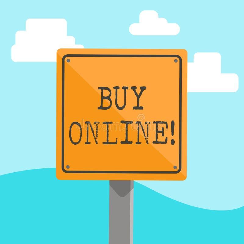 Parola che scrive l'affare del testo online Concetto di affari per il commercio elettronico che permette che i consumatori dirett royalty illustrazione gratis