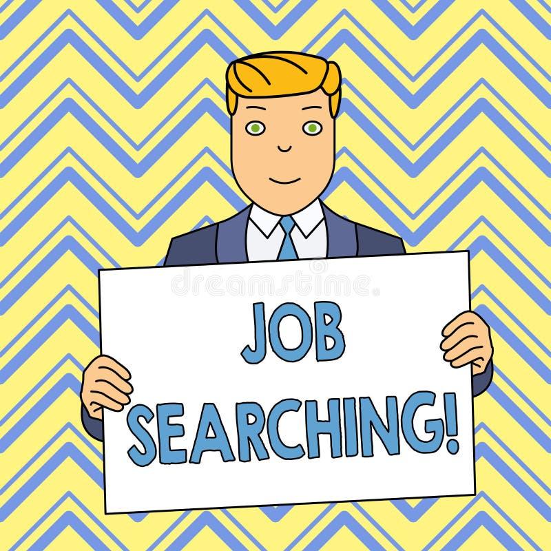 Parola che scrive ricerca di lavoro del testo Concetto di affari per l'atto di ricerca ricerca di lavoro di occupazione o della c royalty illustrazione gratis