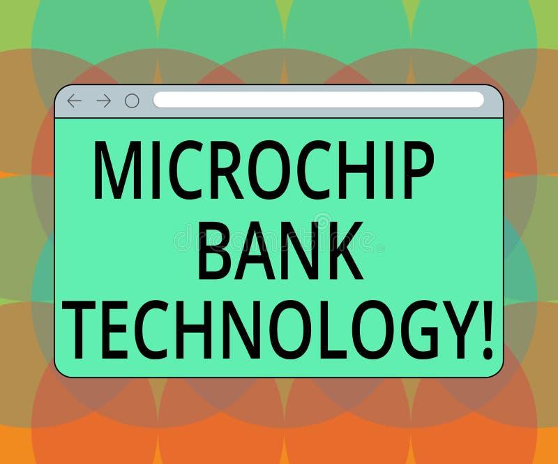 Parola che scrive tecnologia della Banca del microchip del testo Concetto di affari per le transazioni binarie del fondo della ba illustrazione di stock
