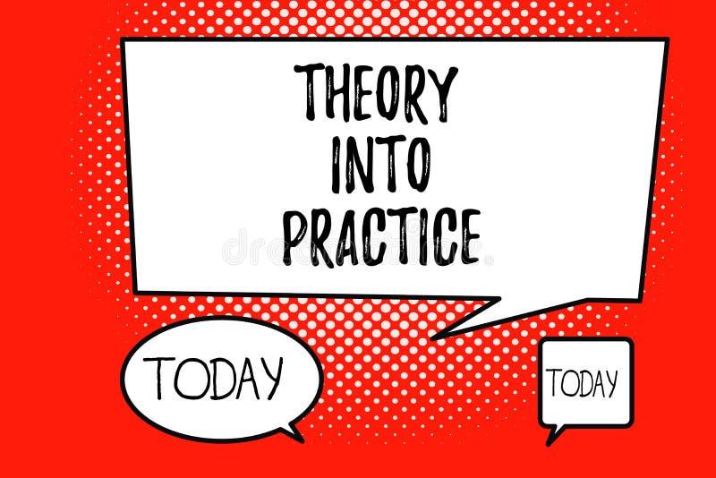 Parola che scrive teoria del testo in pratica Il concetto di affari per le mani sull'apprendimento applica la conoscenza nella si royalty illustrazione gratis