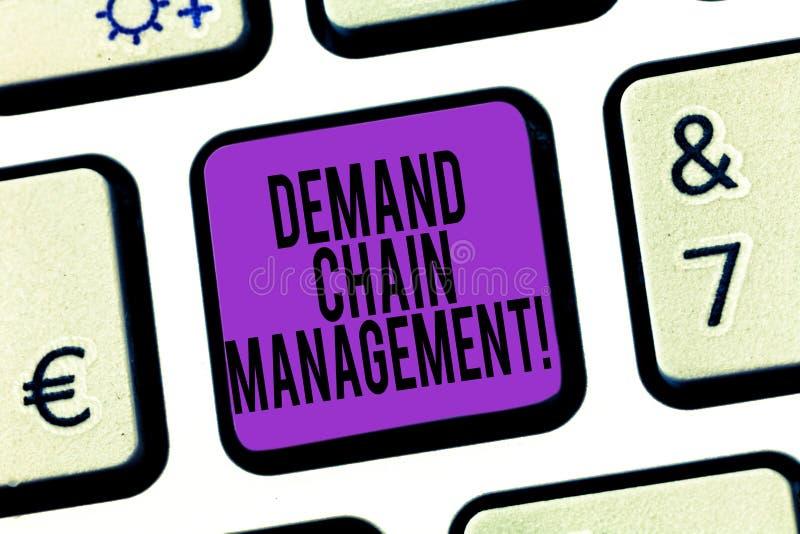 Parola che scrive a testo Deanalysisd gestione a catena Concetto di affari per le relazioni fra i fornitori ed i clienti fotografia stock