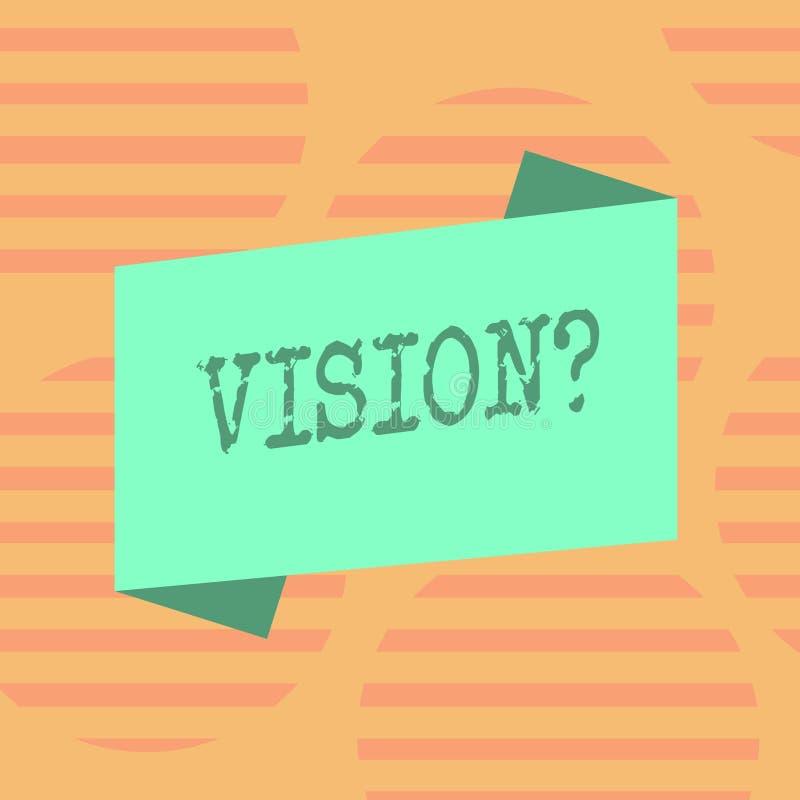 Parola che scrive testo Visionquestion Concetto di affari per l'impegno della società che descrive colore realistico futuro dello royalty illustrazione gratis