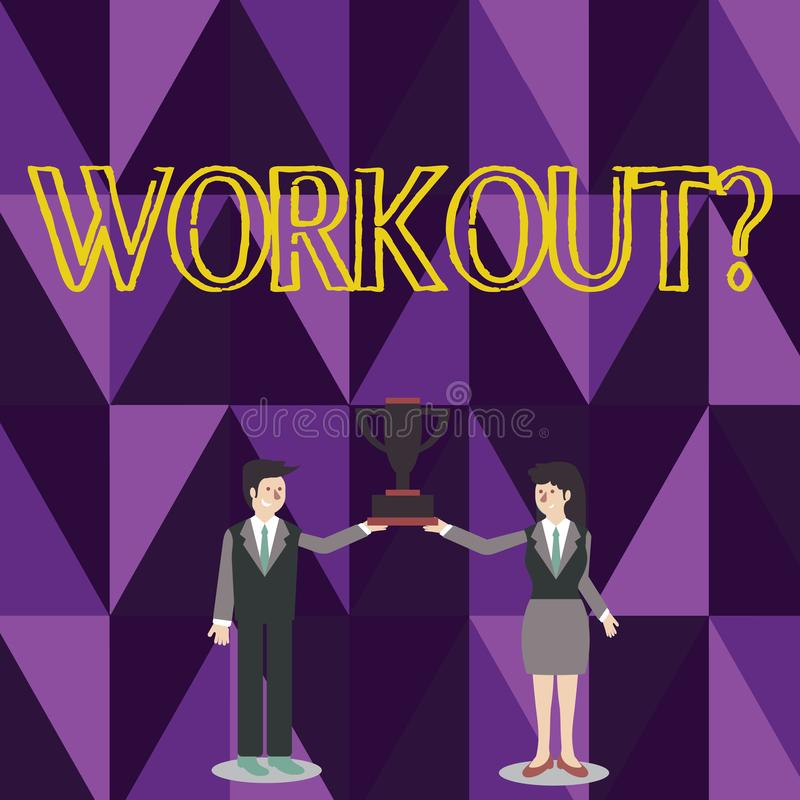 Parola che scrive testo Workoutquestion E royalty illustrazione gratis