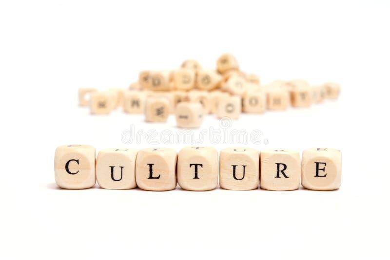 Parola con la cultura dei dadi immagine stock libera da diritti