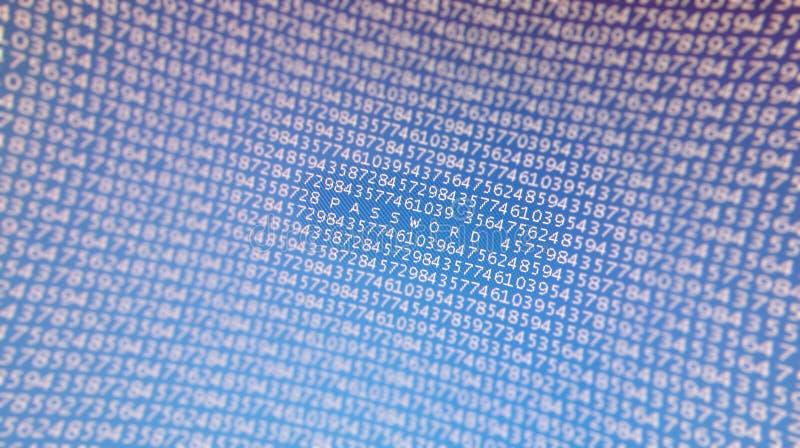 Parola d'accesso nel codice binario illustrazione di stock