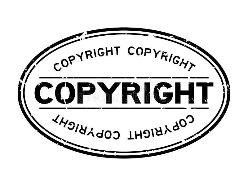 Parola d'autore nero grattugiata, sigillo di gomma ovale su fondo bianco royalty illustrazione gratis