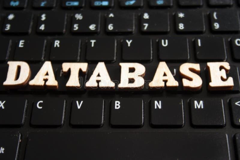 Parola DATABASE immagine stock