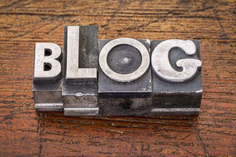 Parola del blog in metallo fotografie stock libere da diritti