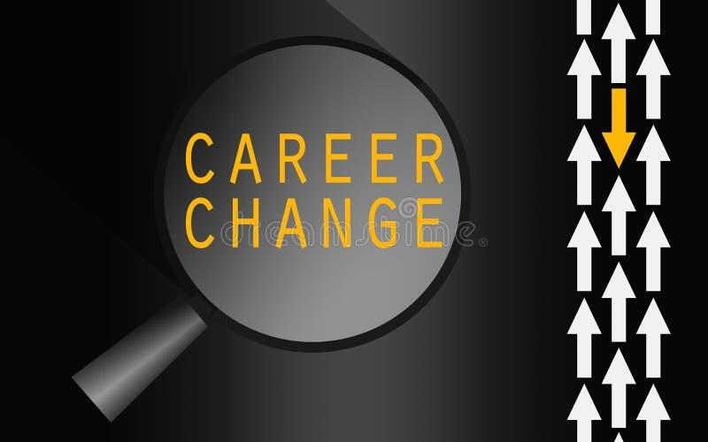 Parola del cambiamento di carriera con la freccia gialla illustrazione vettoriale