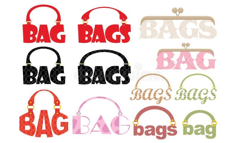 Parola del sacchetto sotto forma d'un logotype royalty illustrazione gratis