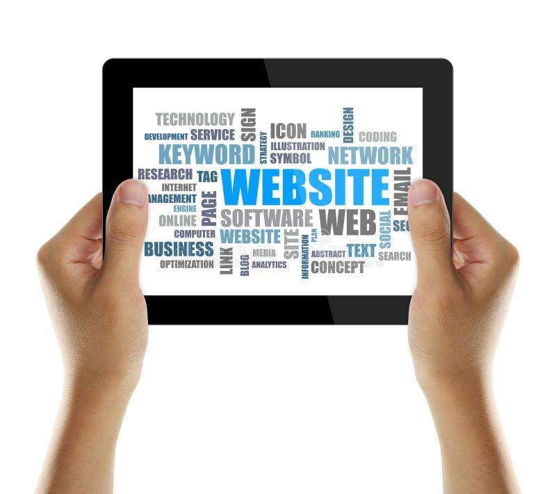 Parola del sito Web o nuvola dell'etichetta immagini stock