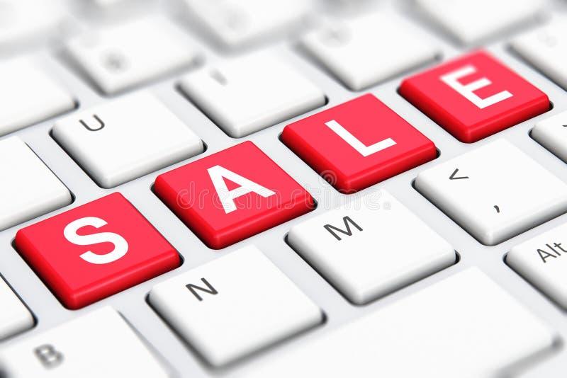 Parola del testo di vendita sulle chiavi di tastiera del computer illustrazione di stock