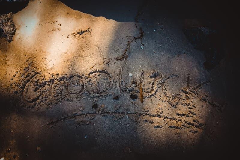 Parola della spiaggia disegnata immagini stock