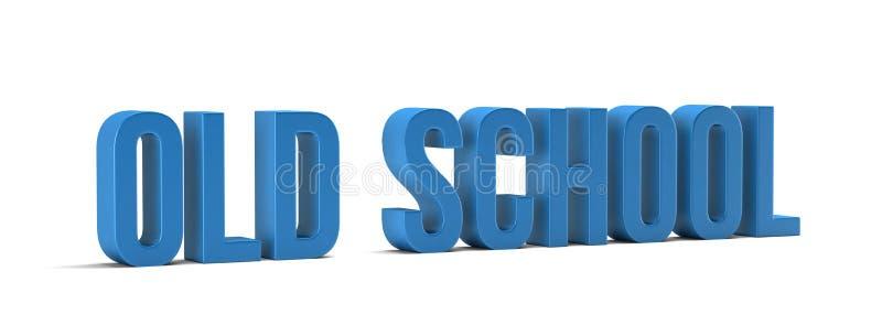 Parola della vecchia scuola 3d rendono l'illustrazione nel fondo bianco illustrazione di stock