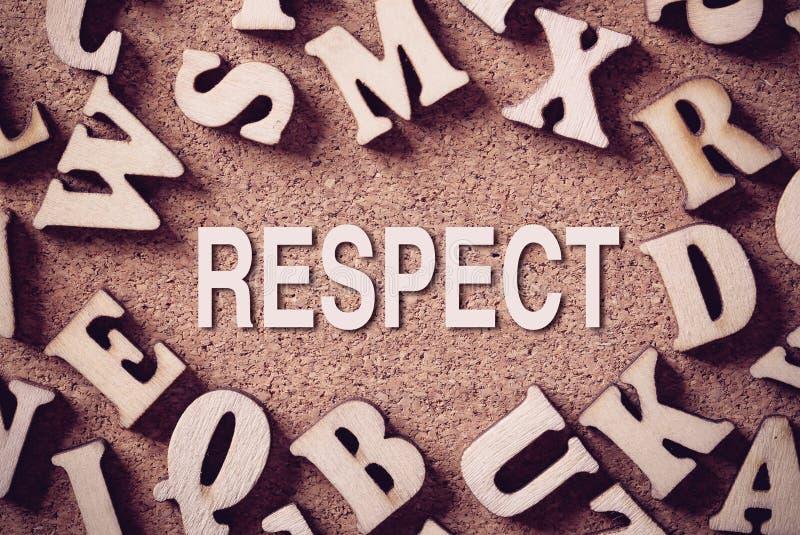 Parola di concetto di rispetto immagine stock libera da diritti