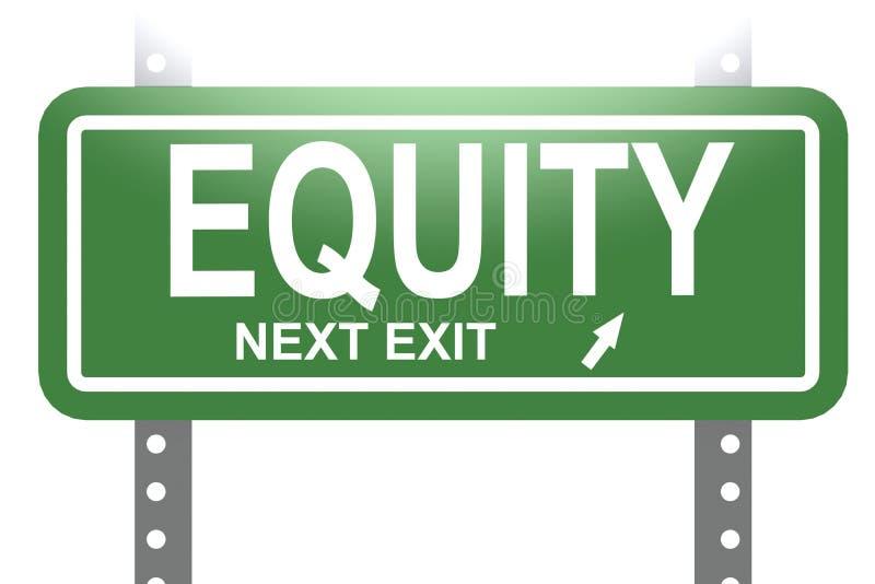Parola di equità con il bordo verde del segno isolato royalty illustrazione gratis