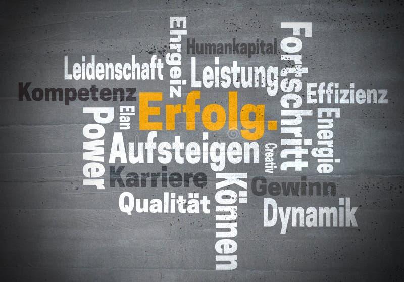 Parola di Erfolg Karriere Ehrgeiz (nell'ambizione tedesca di carriera di successo) fotografia stock