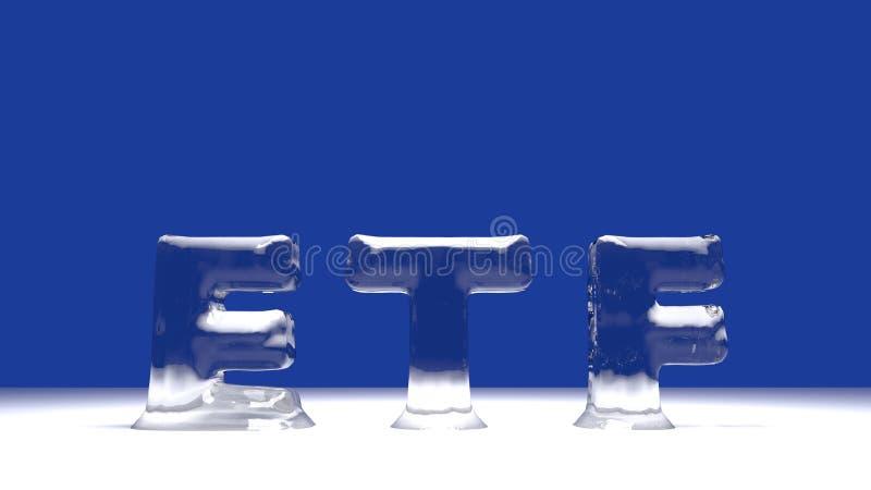 Parola di ETF dalle lettere di fusione del ghiaccio illustrazione vettoriale