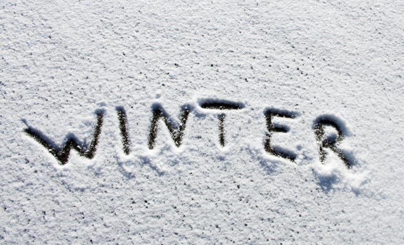 Parola di inverno fotografie stock