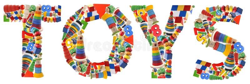 Parola di legno dei giocattoli - giocattoli immagini stock libere da diritti