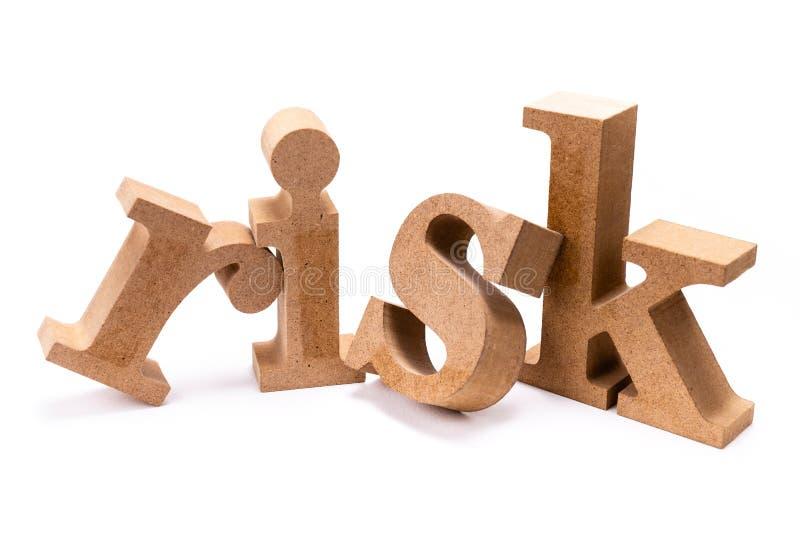 Parola di legno di rischio fotografie stock libere da diritti