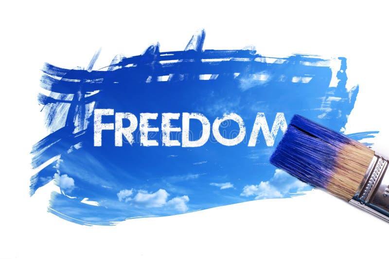 Parola di libertà della pittura fotografia stock libera da diritti