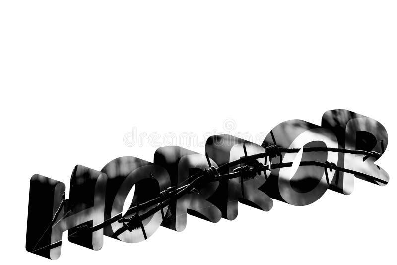 Parola di ORRORE in 3d fotografie stock libere da diritti