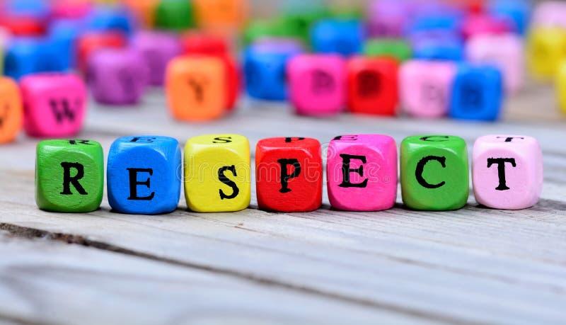 Parola di rispetto sulla tavola fotografia stock libera da diritti