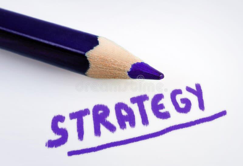 Parola di strategia fotografie stock