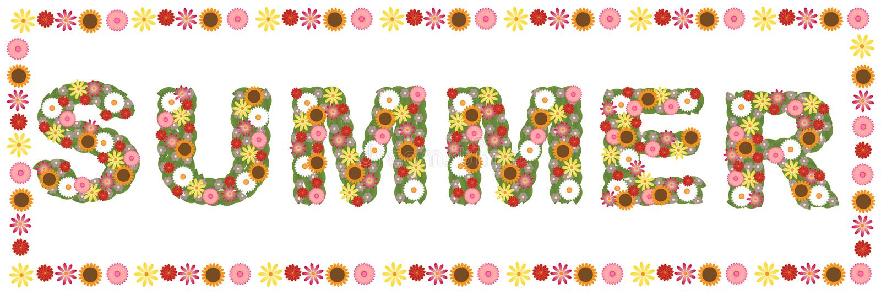 Parola floreale di estate illustrazione di stock
