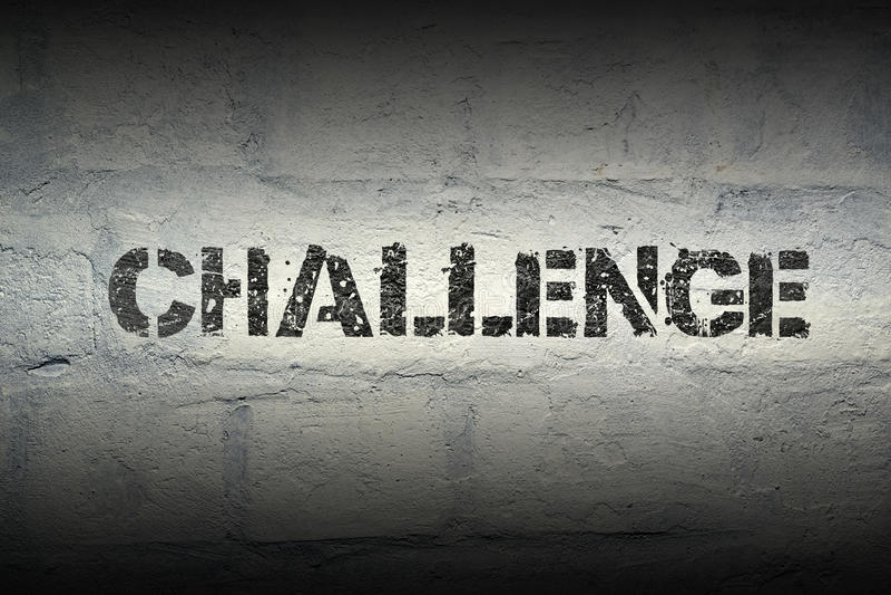 PAROLA GR di sfida fotografie stock