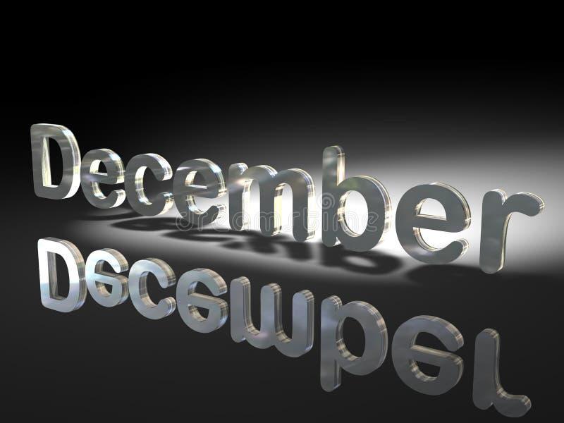 Parola inglese dicembre illustrazione vettoriale