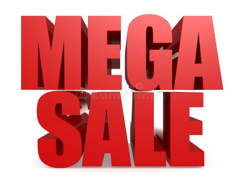 Parola mega rossa di vendita illustrazione vettoriale