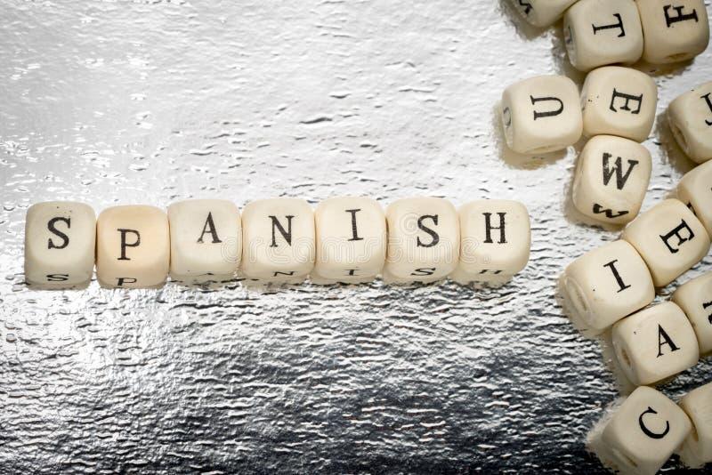 Parola spagnola fotografie stock