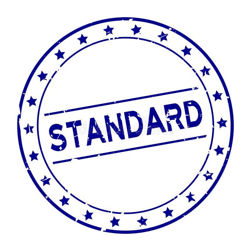 Parola standard blu di lerciume con il bollo di gomma della guarnizione dell'icona della stella su fondo bianco royalty illustrazione gratis