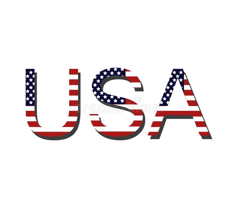 Parola Stati Uniti d'America dell'icona illustrazione vettoriale