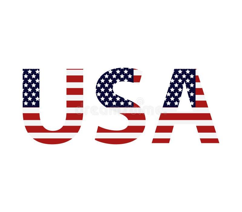 Parola Stati Uniti d'America dell'icona illustrazione di stock