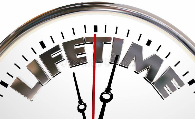 Parola vivente della portata di esperienza dell'orologio di vita illustrazione di stock
