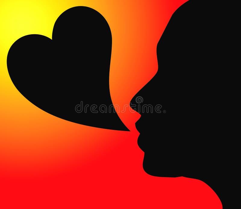 Parole di amore illustrazione vettoriale