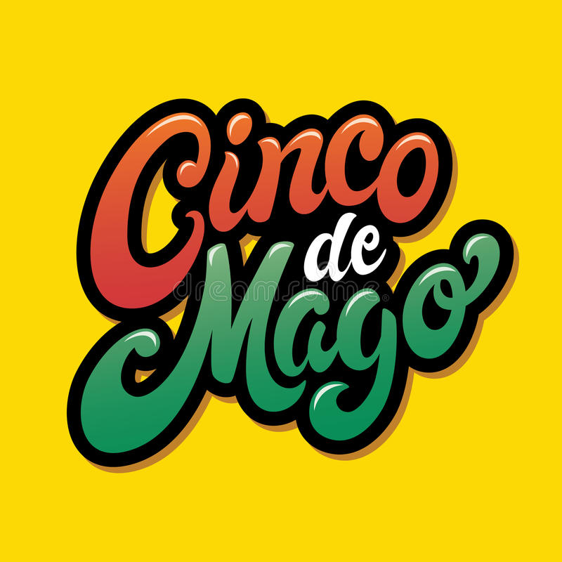 Parole di saluto di Cinco De Mayo illustrazione vettoriale